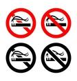 No smoking signs set vector image