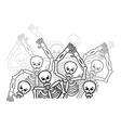 Sinners in hell restless soul Dead in underworld vector image