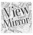 rear view mirror Word Cloud Concept vector image
