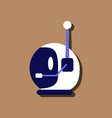 flat icon design space helmet with antenna in vector image vector image