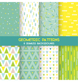 8 Seamless Geometric Patterns vector image vector image