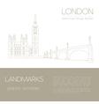 World landmarks London United KingdomWestminster vector image