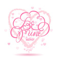 be mine lettering card vector image