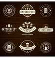 Beer festival Oktoberfest celebrations labels vector image