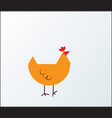 chicken icon or button in flat style with vector image