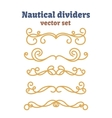 Dividers set Nautical ropes Decorative vector image