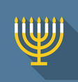 menorah for hanukkah vector image