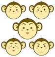 Monkey emotion vector image