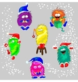 Monsters in the Winter vector image