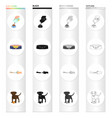 place sleep dog and other web icon in cartoon vector image
