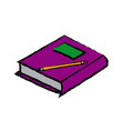 school book pencil equipment study icon vector image