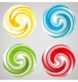 Set of milk yogurt cream curl or lollipop vector image