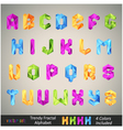 Trendy colorful alphabet vector image