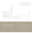 World landmarks London United KingdomWestminster vector image