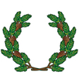 wreath of pine branches vector image