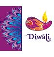Happy Diwali festival background vector image