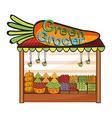 A green grocer shop vector image vector image