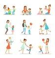 Loving Mother Playing And Enjoying Good Quality vector image