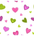 Funny girlish printable texture with cute hearts vector image