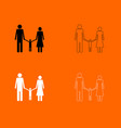 Family black and white set icon vector image