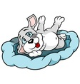 Puppy Dog Lying vector image vector image