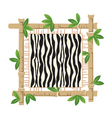 bamboo and zebra vector image