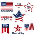 Happy Memorial Day Patriotic American Flag vector image