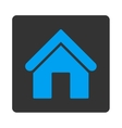 Home flat blue and gray colors rounded button vector image
