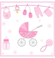 Baby Shower objects vector image vector image