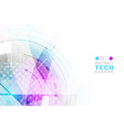 Abstract technological futuristic background with vector image