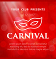 carnival mask masquerade mardi gras glittering vector image