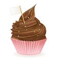 Chocolate Flag Cupcake vector image