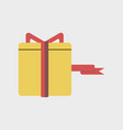 flat icon of gift box black friday surprise inside vector image