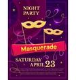 Masquerade poster vector image