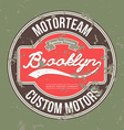 Motorteam Brooklyn T-shirt graphic vector image