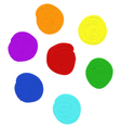 oil paint set in different colors vector image