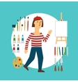 painter vector image