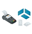 POS Terminal debit credit card Sales printed vector image