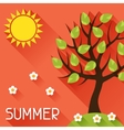 Seasonal with summer tree in flat vector image