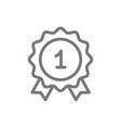 simple award and medal line icon symbol and sign vector image