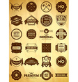 Vintage labels Big collection 1 vector image