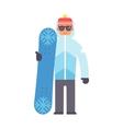 Skiing snowboard man vector image