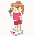 Fat girl vector image