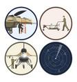 military airplane repair and maintenance vector image vector image