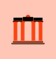 architecture greek columns vector image