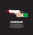 Hand Holding A Gun vector image