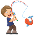 Cartoon Boy fishing vector image