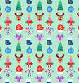 Seamless Christmas colorful background Flat design vector image