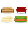 set sofa vector image