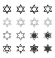 Star icon Solomon Seal icons Shield of David vector image